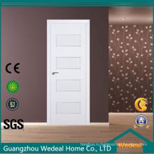 Белый лак современный твердая деревянная дверь для проекта гостиницы