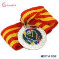 Venda por atacado olímpica executando o medalhão de ouro personalizado