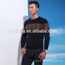 good cashmere men's jacquard sweater