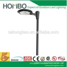 Fabricante iluminación del estacionamiento CE RoHS UL DLC 20W ~ 50W mazorca modernas luces led jardín