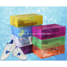 PP Plastic Folding Packs Crystal Handle Shoe Box (HH05)