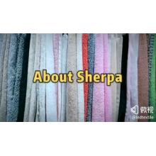 Velvet Fleece Fabric Dyeing Short Pile Plush Fabric