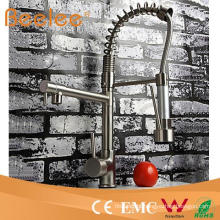 Brushed Nickel Kitchen Faucet with Dual Swivel Pull out Spout