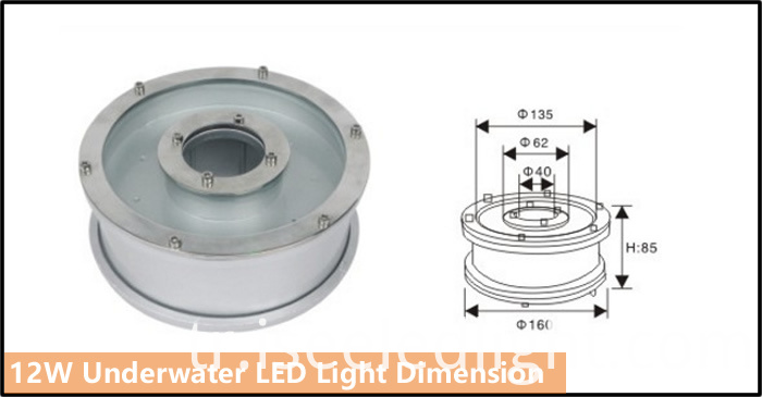 12W underwater light