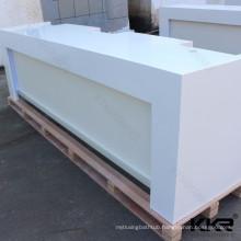 Solid surface white Round Reception Desk