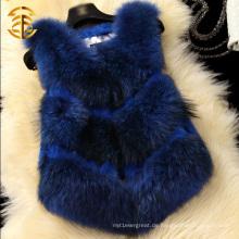 Kaninchen und Waschbär Pelz gestrickt neue Damen Mode Weste