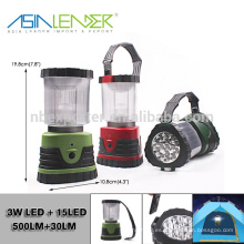 Productos del líder de Asia BT-4888 3W LED + 15 LED Linterna de Camping Ultra Brillante