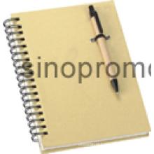 Notebook com bola caneta presente caderno (MN9046)