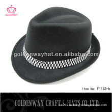 Sombreros negros baratos con sombrero de fieltro