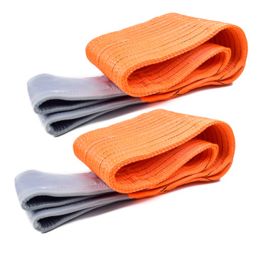 10 Ton 8M Or OEM Length 300MM Width 4 Ply Soft 8T Webbing Lifting Belt Sling Orange Color Safety Factor 8:1 7:1 6:1 Type