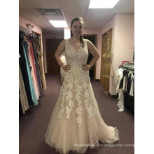 Soft Flow V Neck Wedding Dress