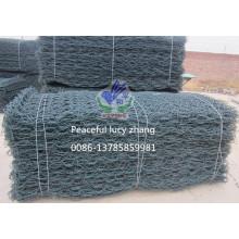 Moss Green PVC Coated Gabion, Gabionbox & Gabion Mattress Supplier