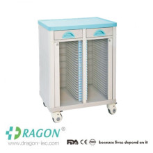 DW-CT001ABS structure hospital case history trolley for medical record holders