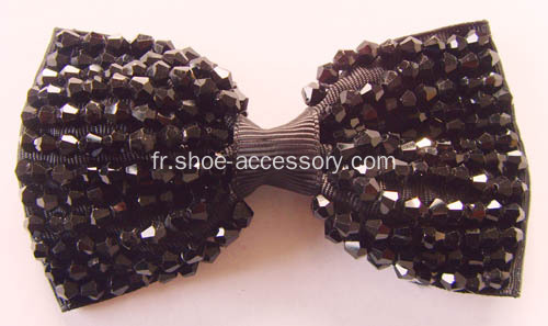 Elegant Bowknot Rhinestone Shoe Flowers, Fashion Shoe Flowers for Women's Wedding