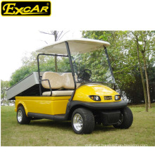 Ce approved prices electric utility vehicle,2 seater golf cart with alloy cargo box