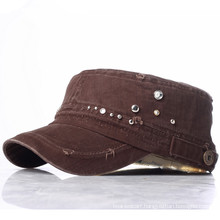 Customer New Lady Rhinestones Fashion Military Army Street Leisure Caps