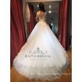 A-ligne arabe perles robe de mariée en dentelle pour fille robe de mariage