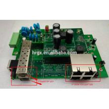 O gigabit completo gerenciou o PWB industrial / exterior do backplane do interruptor do ponto de entrada embarca 4 porta RJ45 com porto 2 SFP 1000M