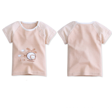 100% Cotton Nature Color Baby T-Shirt, Baby Clothing
