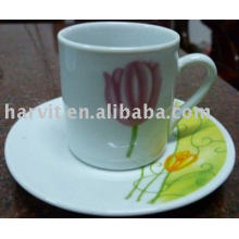 80CC ceramic wholesale tea cup and saucer