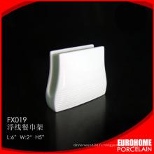 support de serviette porcelaine eurohome design sympa pour restaurant