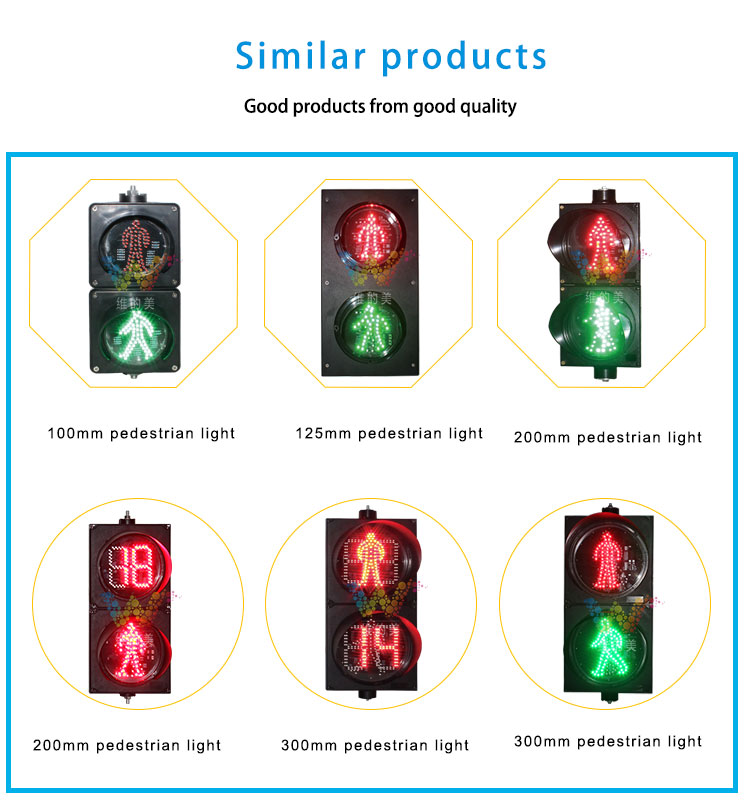 Countdown Timer 200mm Led Traffic Pedestrian Cross Light_10
