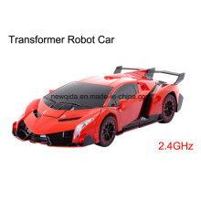 New Robot RC Drift Deformation Car with Music for Children