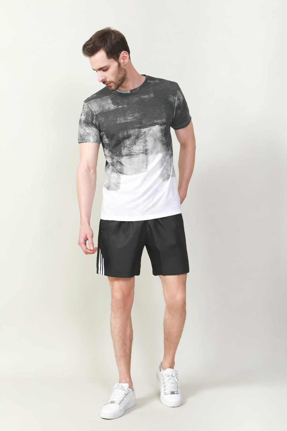 Men's poly cotton slub t-shirt