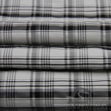 Water & Wind-Resistant Down Jacket Woven Dobby Plaid Jacquard 63% Polyester 37% Nylon Blend-Weaving Intertexture Fabric (H023)