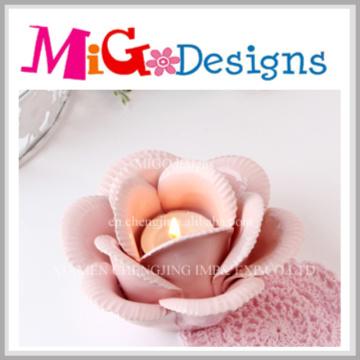 Fabricante de vela de flores de cerâmica criativa da China