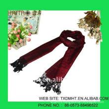 OEM new fashion style grey long jacquard scarf shawl-ladies fashion scarves