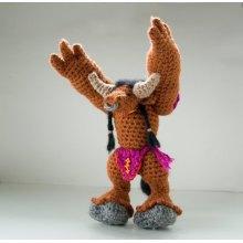 Wow Warcraft Plush Stuffed Hand Crochet Amigurumi Knit Doll Toy