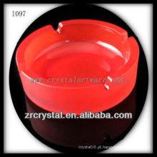 Cinzeiro de Cristal Redondo K9 Vermelho