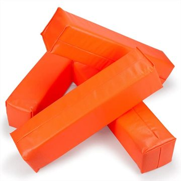 EASTOMMY Weighted Football Corner Pylons Orange