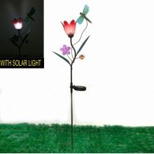 Décoration de libellule éclairée solaire Décor de métal de jardin