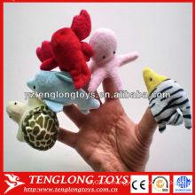 IQ juguete de peluche mar animal dedo títere