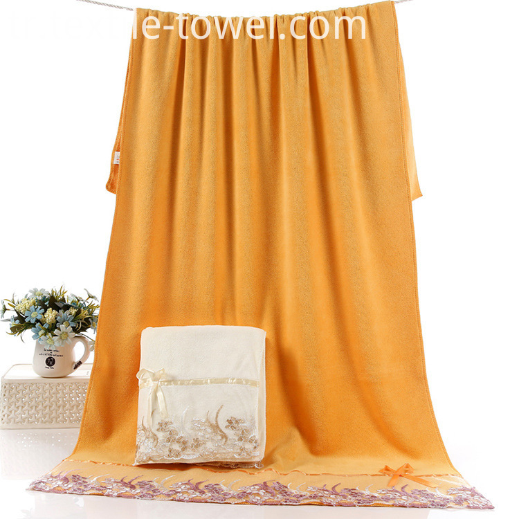 Orange Bath Towels