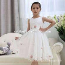 Weihnachts-Party-Mädchen-Kommunion-Partei-Abschlussball-Prinzessin-Partei-Festzug-Brautjungfern-Mädchen-Hochzeits-Blumen-Mädchen-weißes Kleid