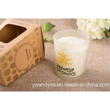 Vela de regalo de vidrio perfumado de lavanda y eucalipto