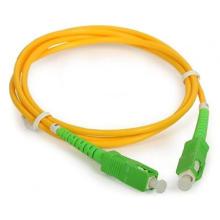 Cable de conexión de fibra óptica Sc / APC
