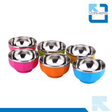 13cm Cheap Stainless Steel Colourful Rice Bowl /Soup Bowl