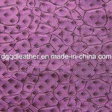 Cuero de muebles de decoración de patrón de moda de cuero (QDL-51385)