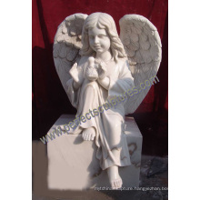 Marble Granite Angel Headstone with Angel Tombstone Angel Monument (SY-X051)
