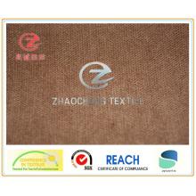 Бархат 30W N / P, скрепленный полиэфирной тканью цвета хаки (ZCCF019)