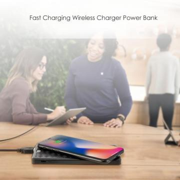 Cargador inalámbrico Type-C Power Bank 2 en 1