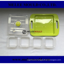 Plastic lattice food container mould