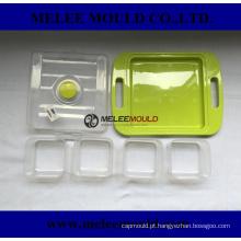 Molde plástico do recipiente de alimento da estrutura