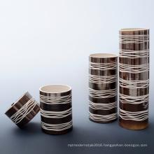 Handmade Grid Square Porcelain Homedecoration Porcelain Art Crafts Vase (A190)