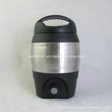 3.6 Liter Plastic Beer Barrel with Pourer