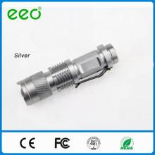 Lanterna LED ajustável do diodo emissor de luz do foco, super brilhante, mini tocha, baterias não incluídas